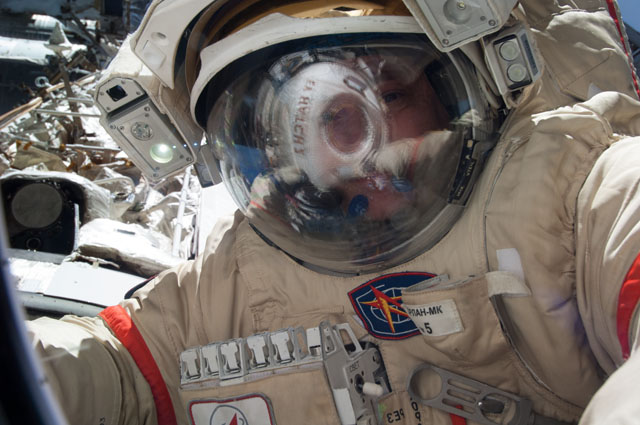 Cosmonaut Fyodor Yurchikhin Provides Preventative Maintenance