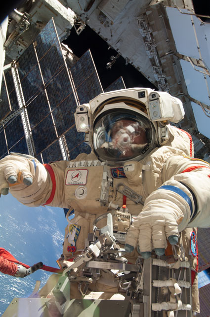 Yurchikhin During Spacewalk