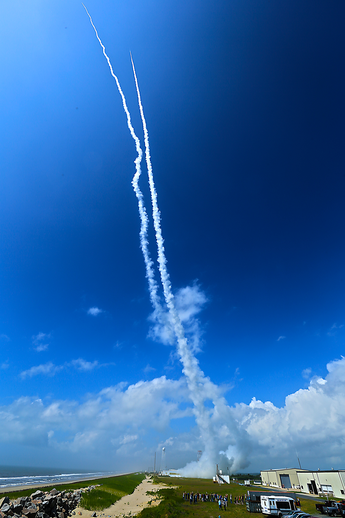 Contrails Over Wallops