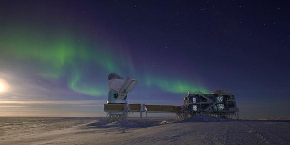 The South Pole Telescope will join the Event Horizon Telescope project in coming years to image the area around the black hole at the center of the Milky Way.