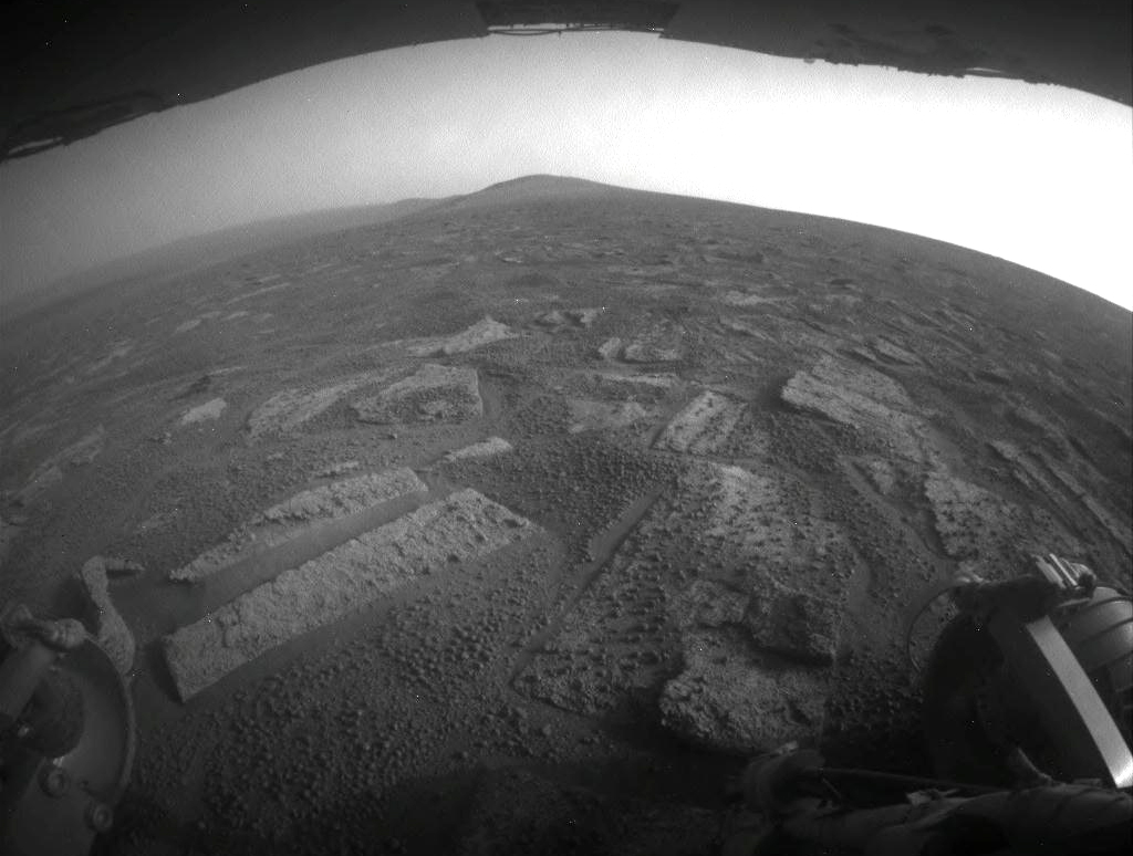 Opportunity Rover's Driving View