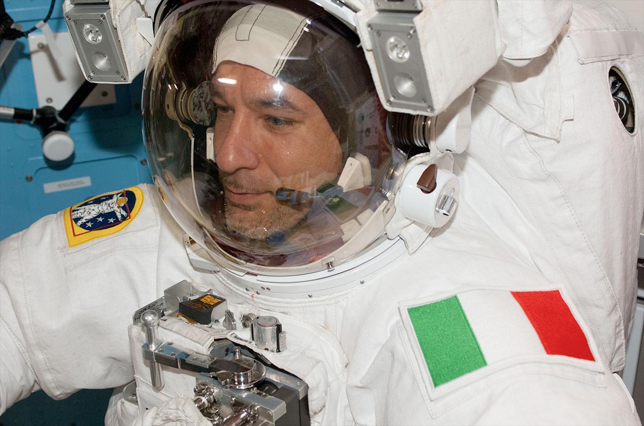 Astronaut Luca Parmitano in Spacesuit