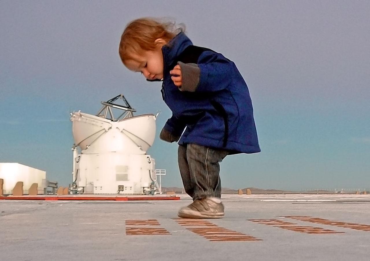 Giant Baby Attacks Telescope