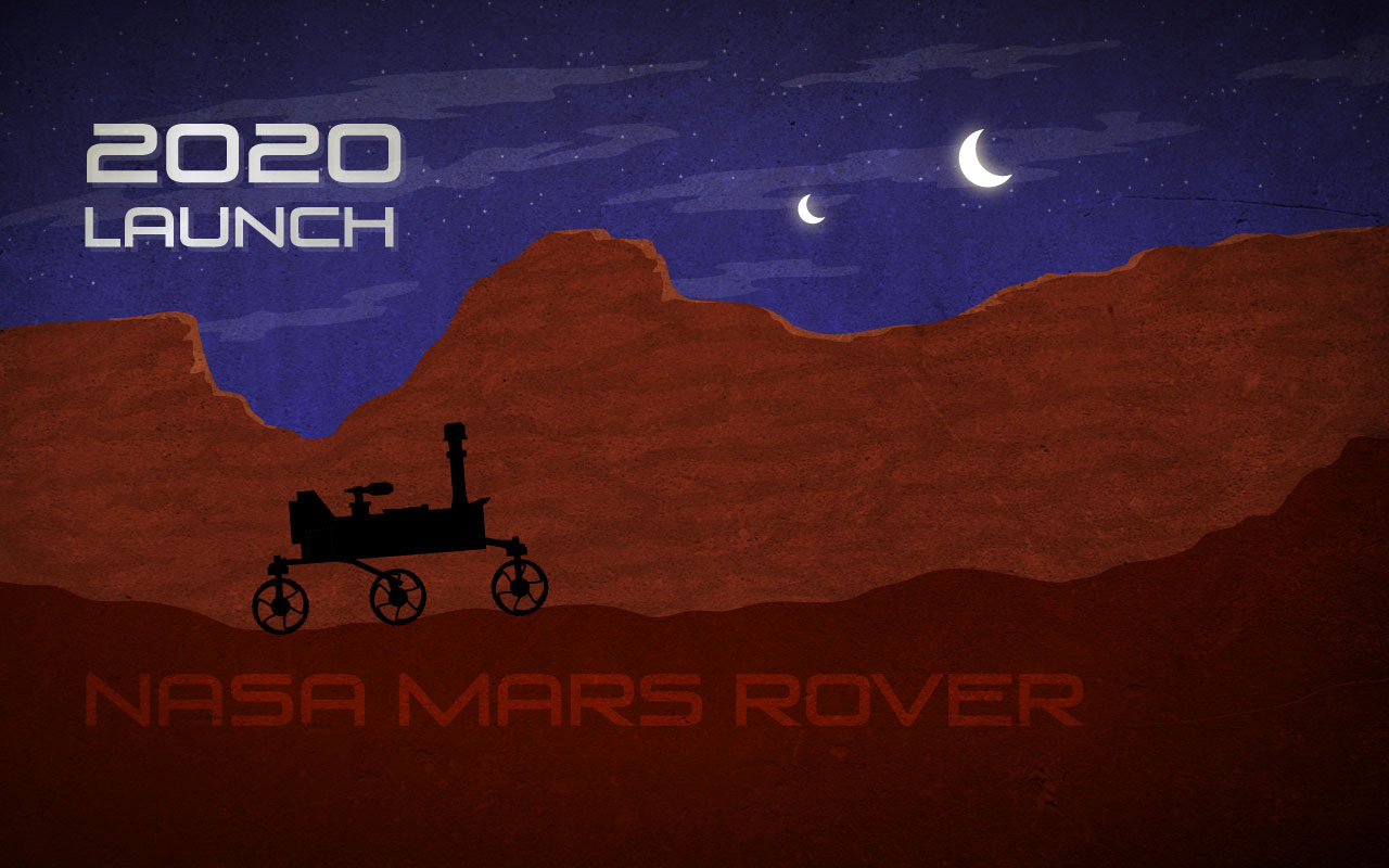 Mars Rover 2020 Illustration