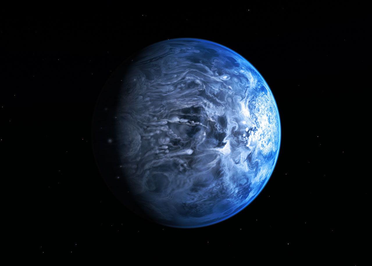 Strange Blue World: Alien Planet's True Color Revealed, a First