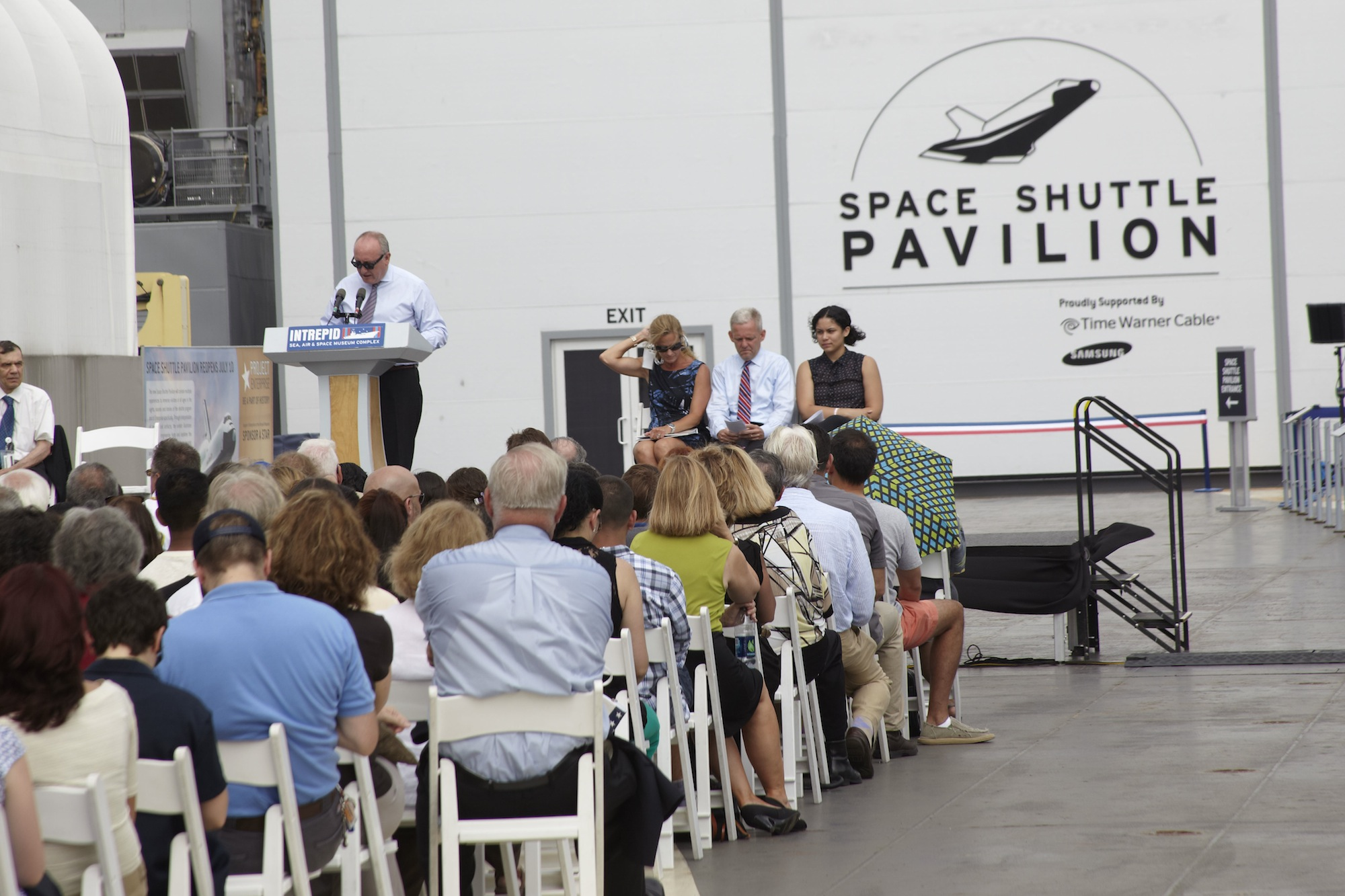 Speakers Celebrate Space Shuttle Enterprise Pavilion Reopening