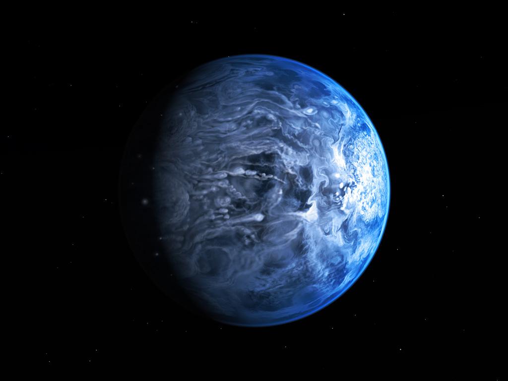 Images: Blue Alien Planet's True Color Revealed by Hubble
