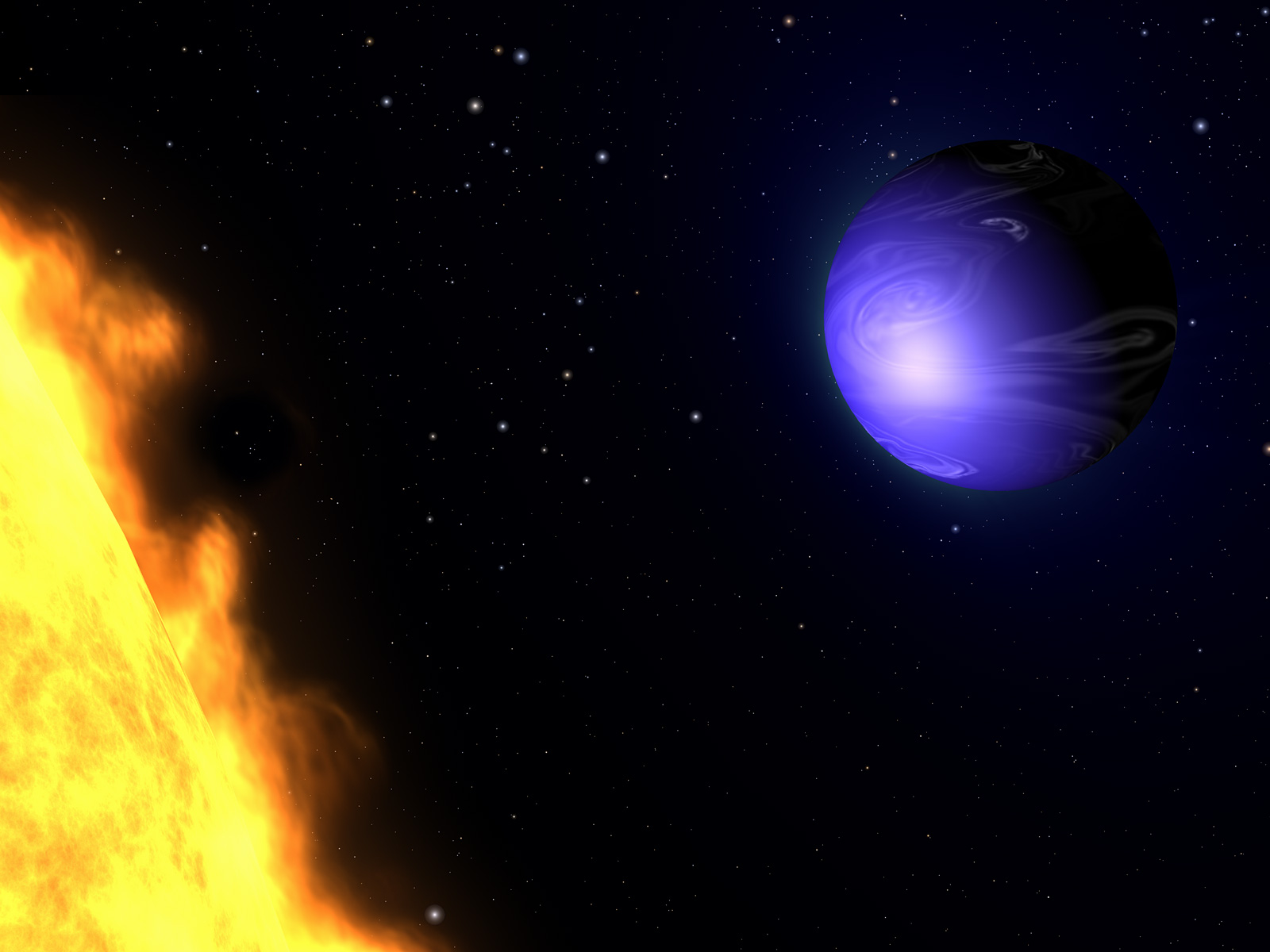 HD 189733b Hot Jupiter Planet 1600