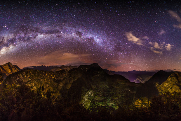 Milky Way Over Machu Picchu