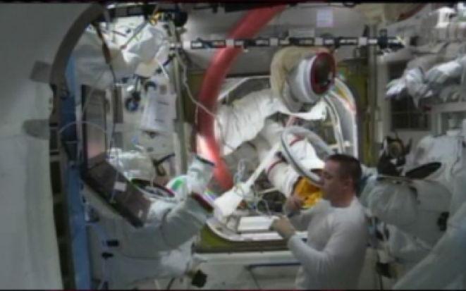 After Spacewalk on July 16, 2013