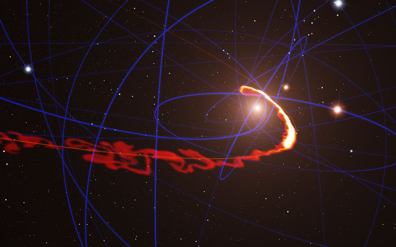 Space Cloud Ripped Apart by Milky Way's Giant Black Hole