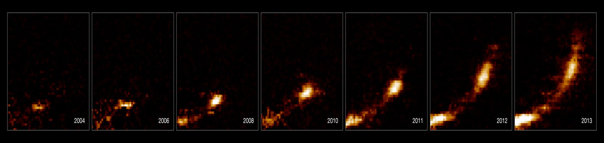 Gas Cloud Ripped Apart by Black Hole — Images