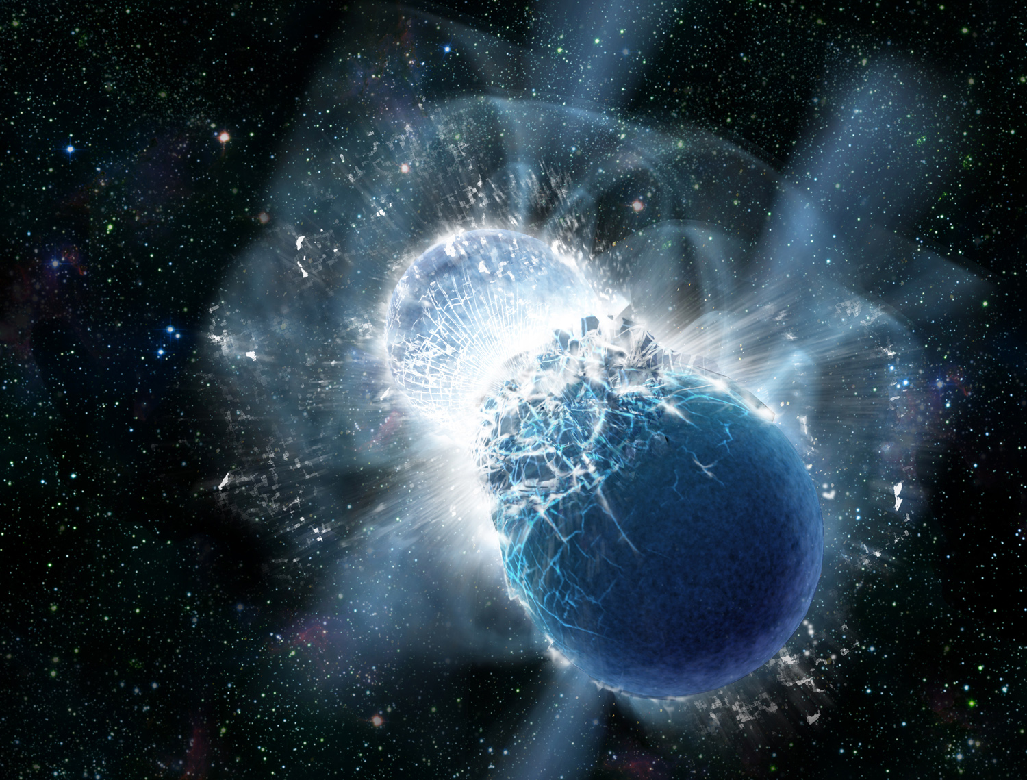Earth's Gold May Come From Collisions of Dead Stars