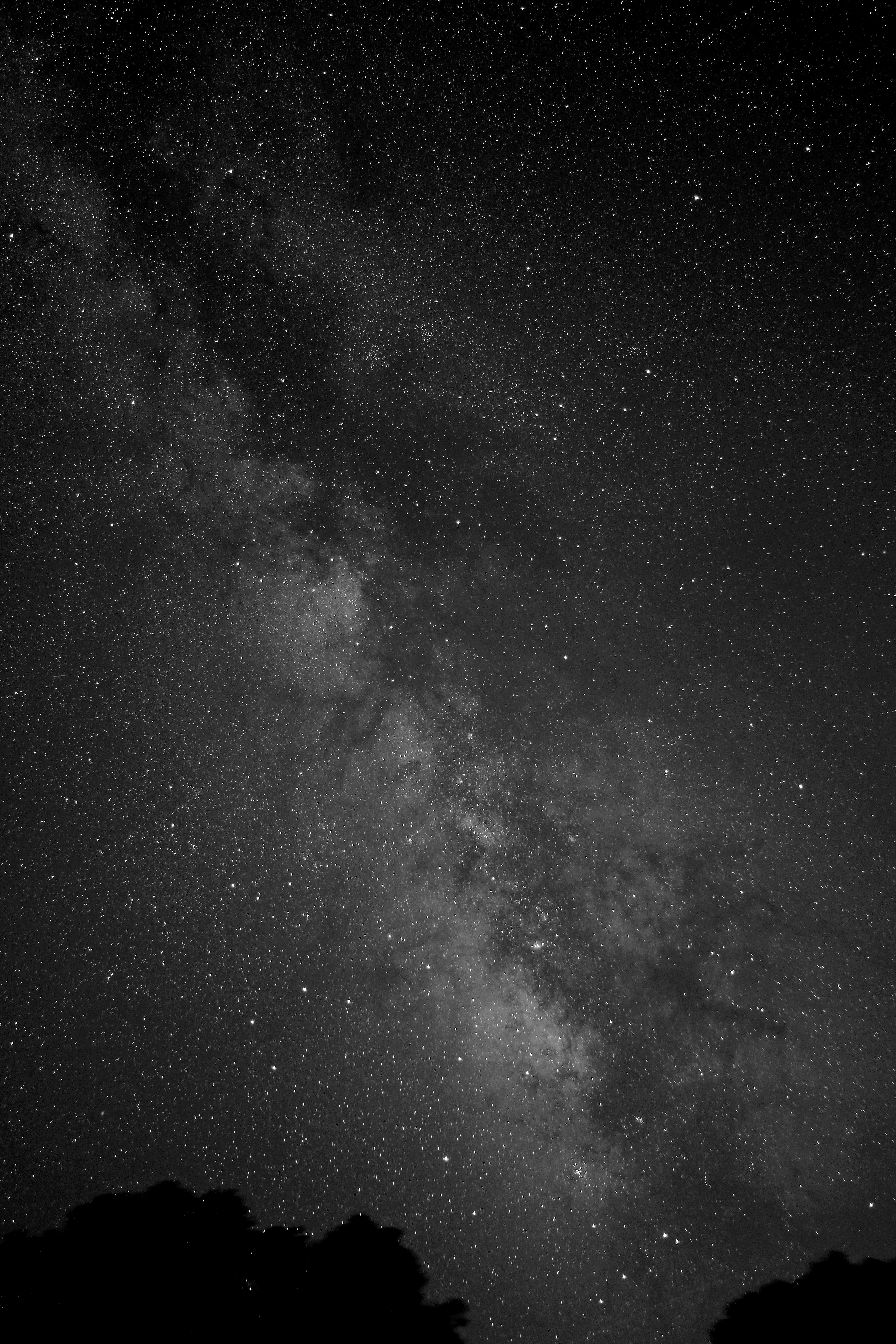 Milky Way Glows in Beautiful Black-and-White Photo