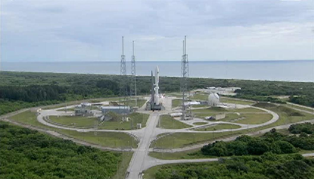 MUOS-2 Satellite on Launch Pad