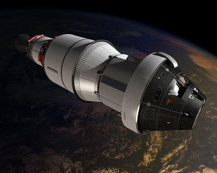 Artist's Illustration of Orion in Orbit