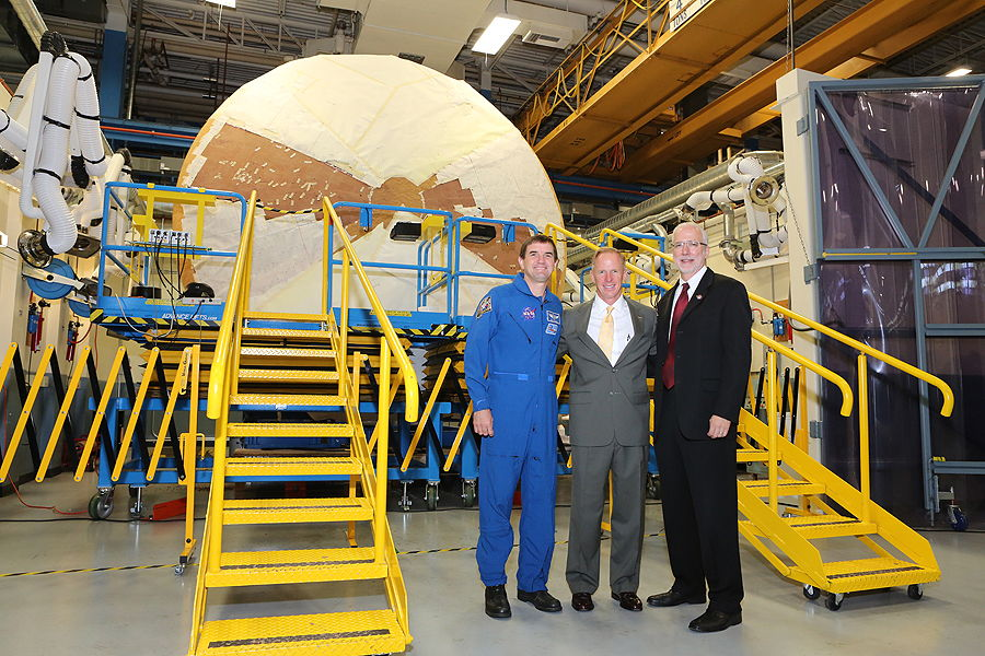 Group Photo with Orion Heat Shield