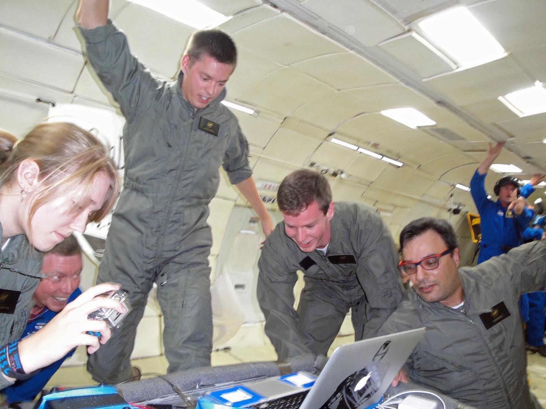 Student Engineers Spark Zero-Gravity Fires on Weightless Wild Ride
