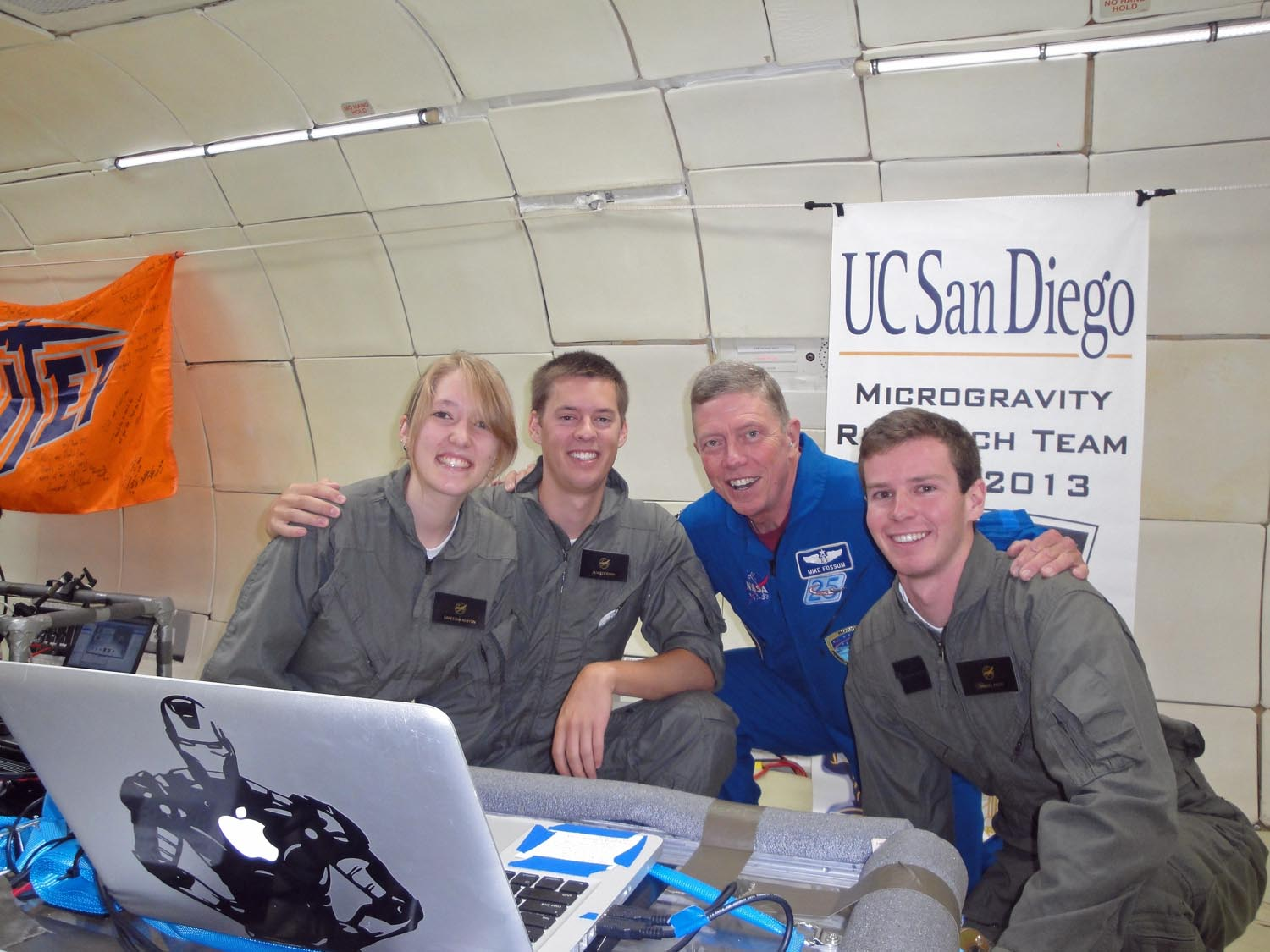 UCSD Microgravity Team and Mike Fossum