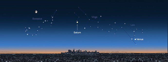 Wave at Saturn from L.A. (Night)
