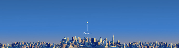 Wave at Saturn from New York City