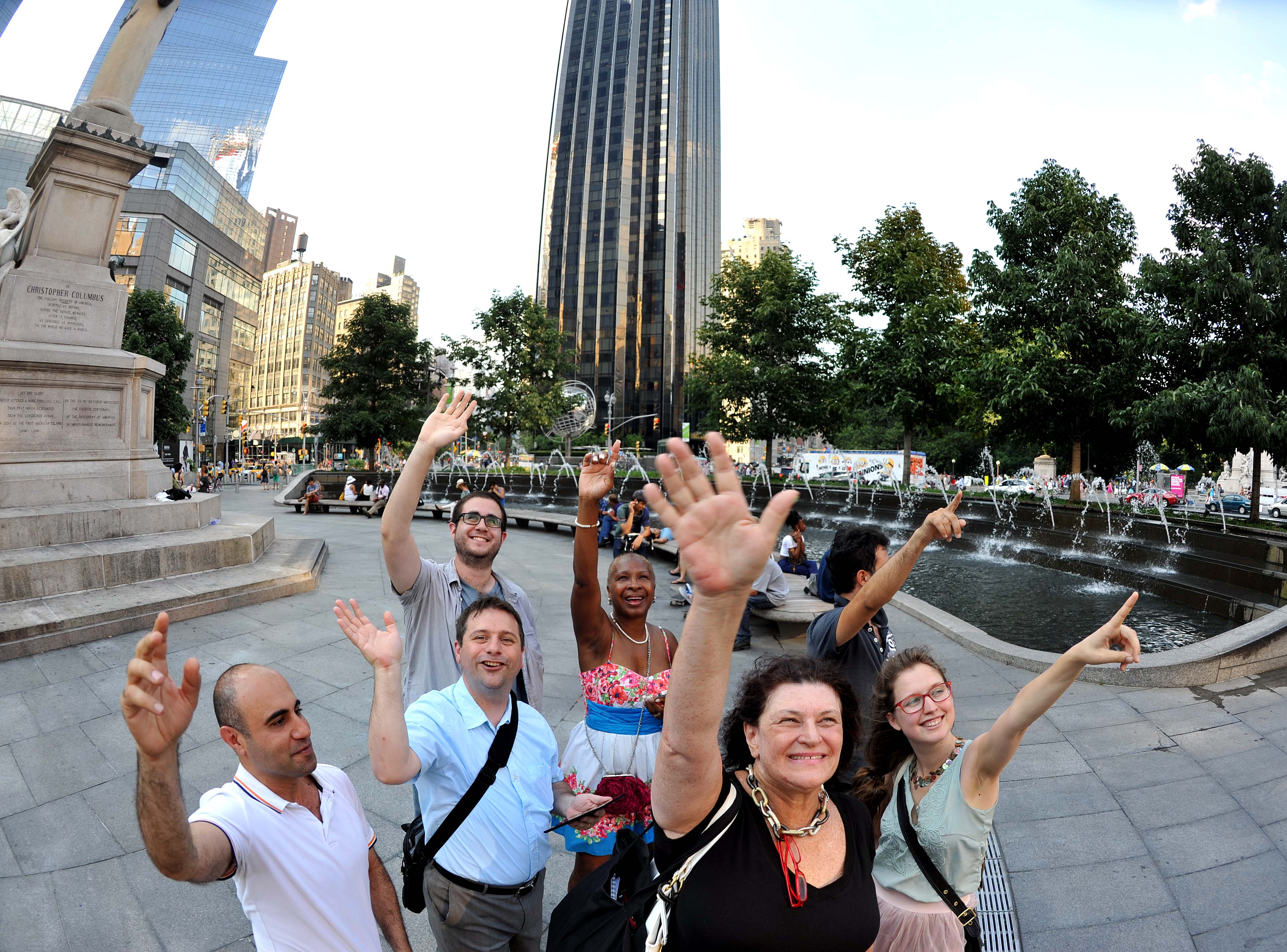 New Yorkers Wave at Saturn