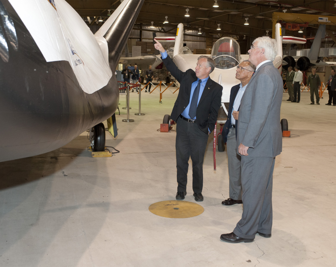 NASA Administrator Bolden and Dream Chaser