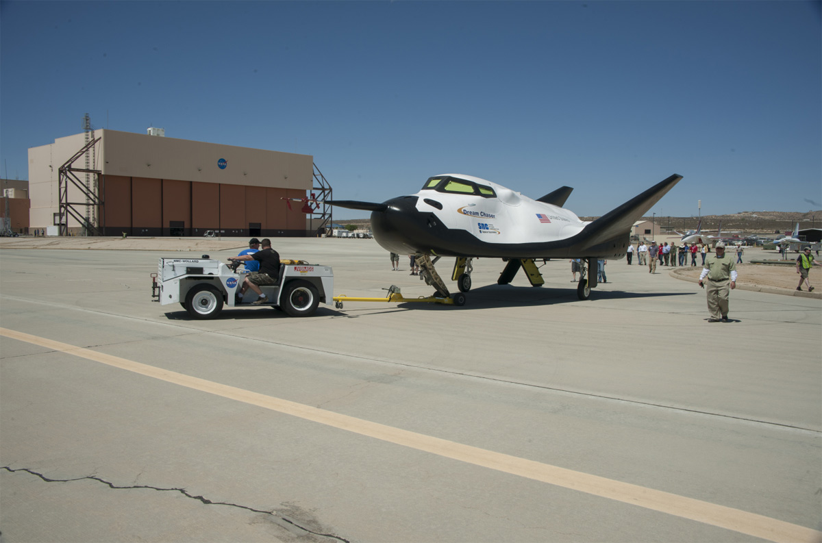 Dream Chaser Test Vehicle Towed