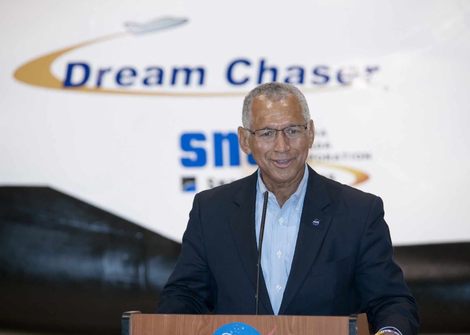 Charles Bolden at Dream Chaser Briefing