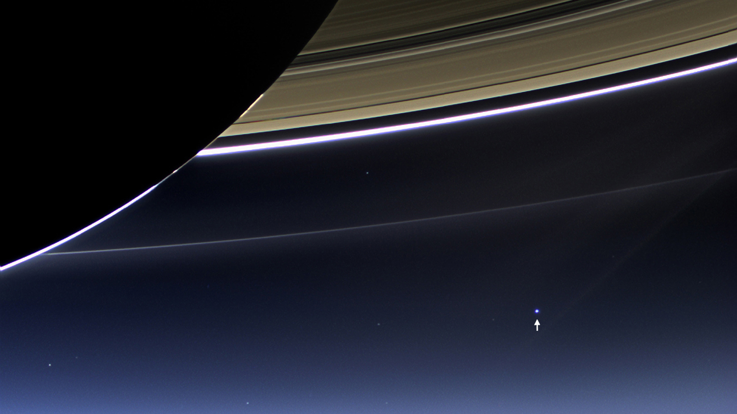 Cassini Probe Sees Earth from Saturn: Annotated