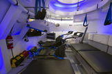 This is an interior view of The Boeing Company's CST-100 spacecraft, which features LED lighting and tablet technology. Image released July 22, 2013.