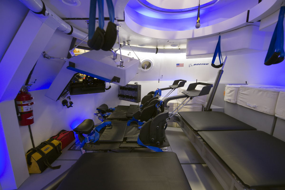 CST-100 Spacecraft interior