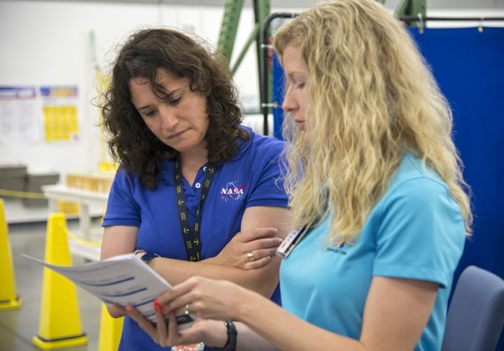 Astronaut Serena Aunon and Andrea Gilkey
