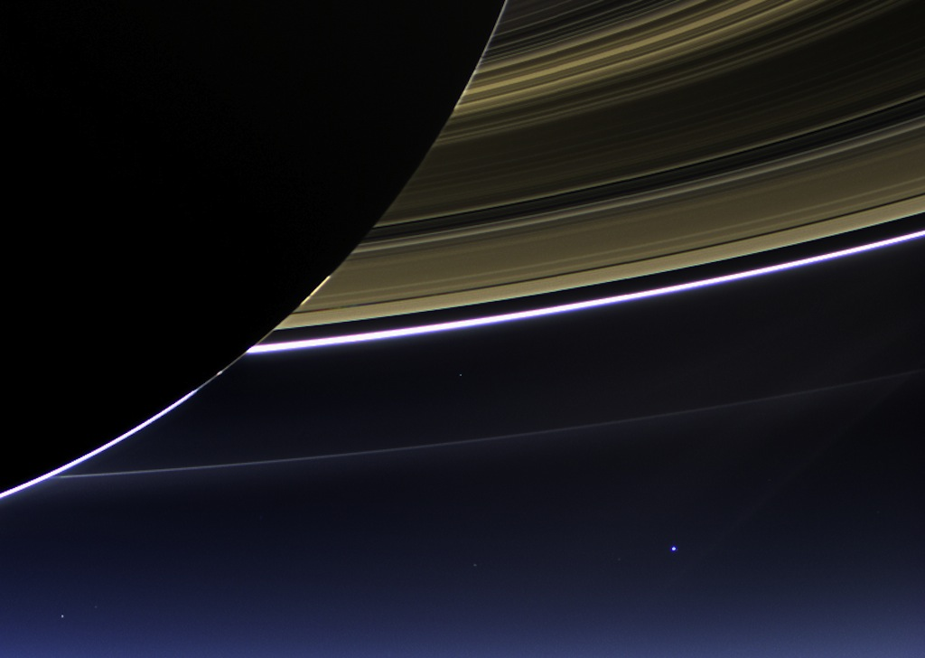 Wave at Saturn: Images from NASA's Cosmic Photo Bomb by Cassini Probe