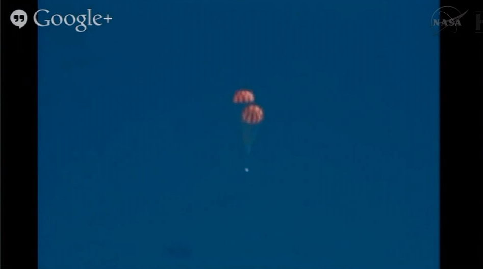 Orion Capsule Drop Test in Progress