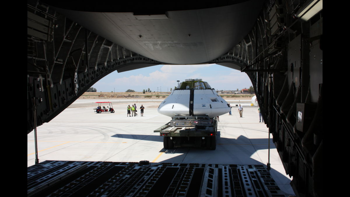 Loading Operations for Orion Spacecraft Parachute Test