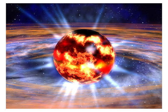 Neutron stars are created when giant stars die in supernovas and their cores collapse, with the protons and electrons essentially melting into each other to form neutrons.