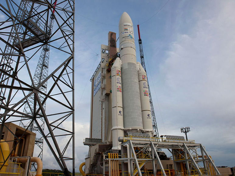 Ariane 5 Rocket Before July 25, 2013, Liftoff