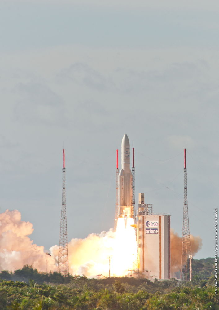Alphasat Lifts Off