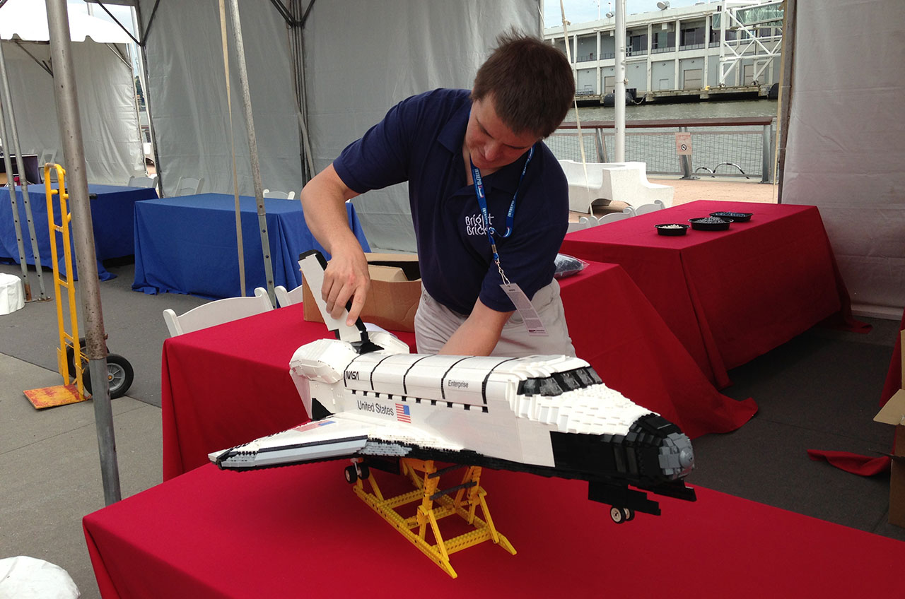 LEGO Brick Space Shuttle Enterprise Lands at NYC Museum