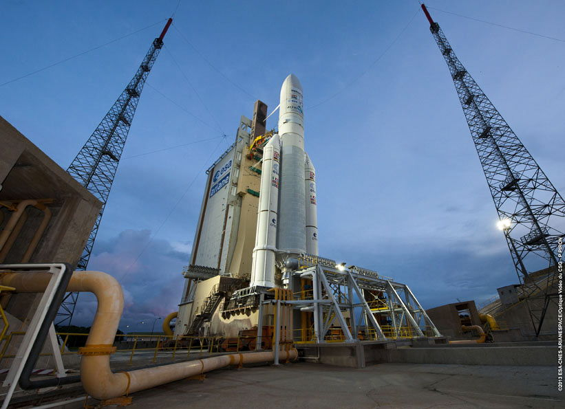 Ariane 5 With Alphasat Ready for Launch