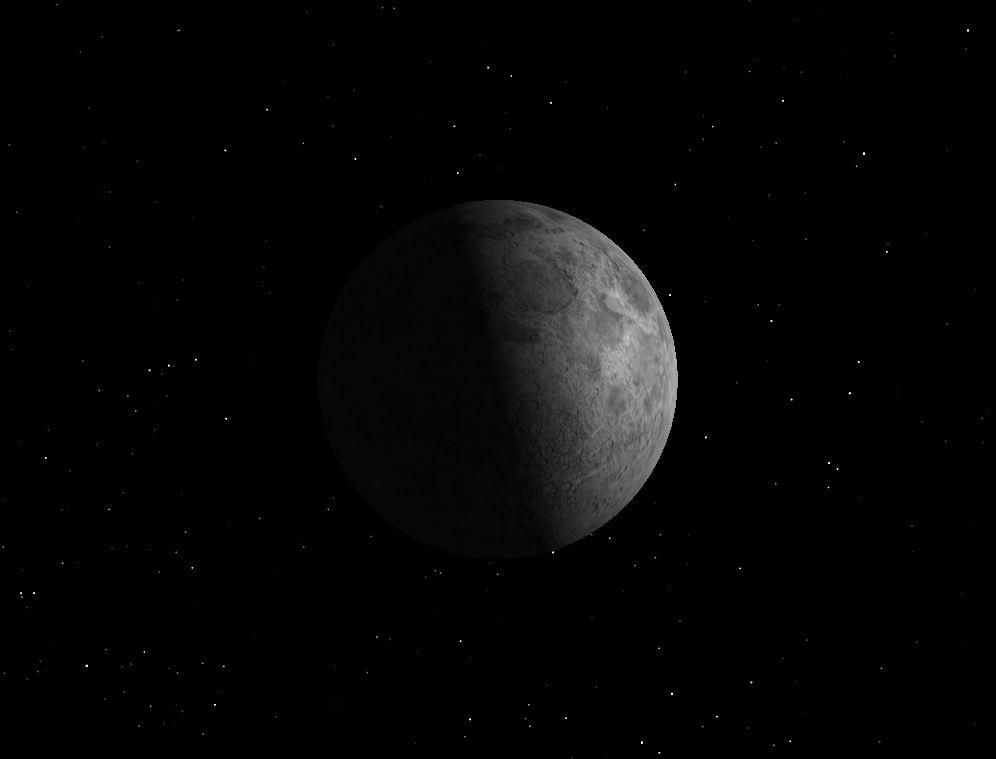 First Quarter Moon, August 2013