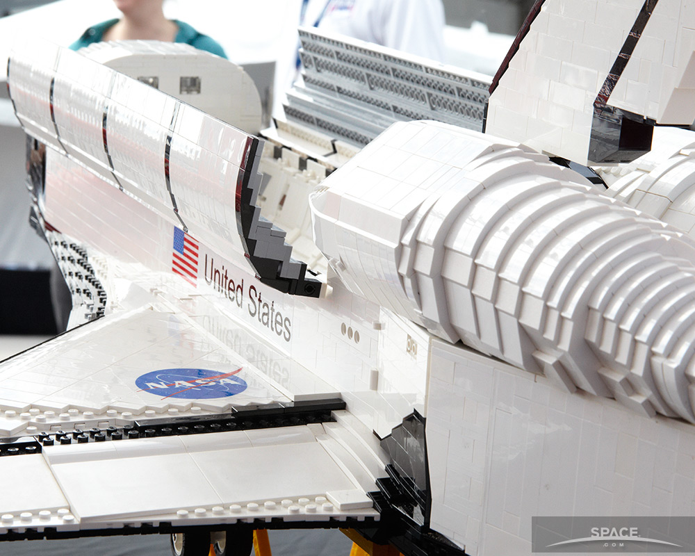 Close-Up of LEGO Enterprise
