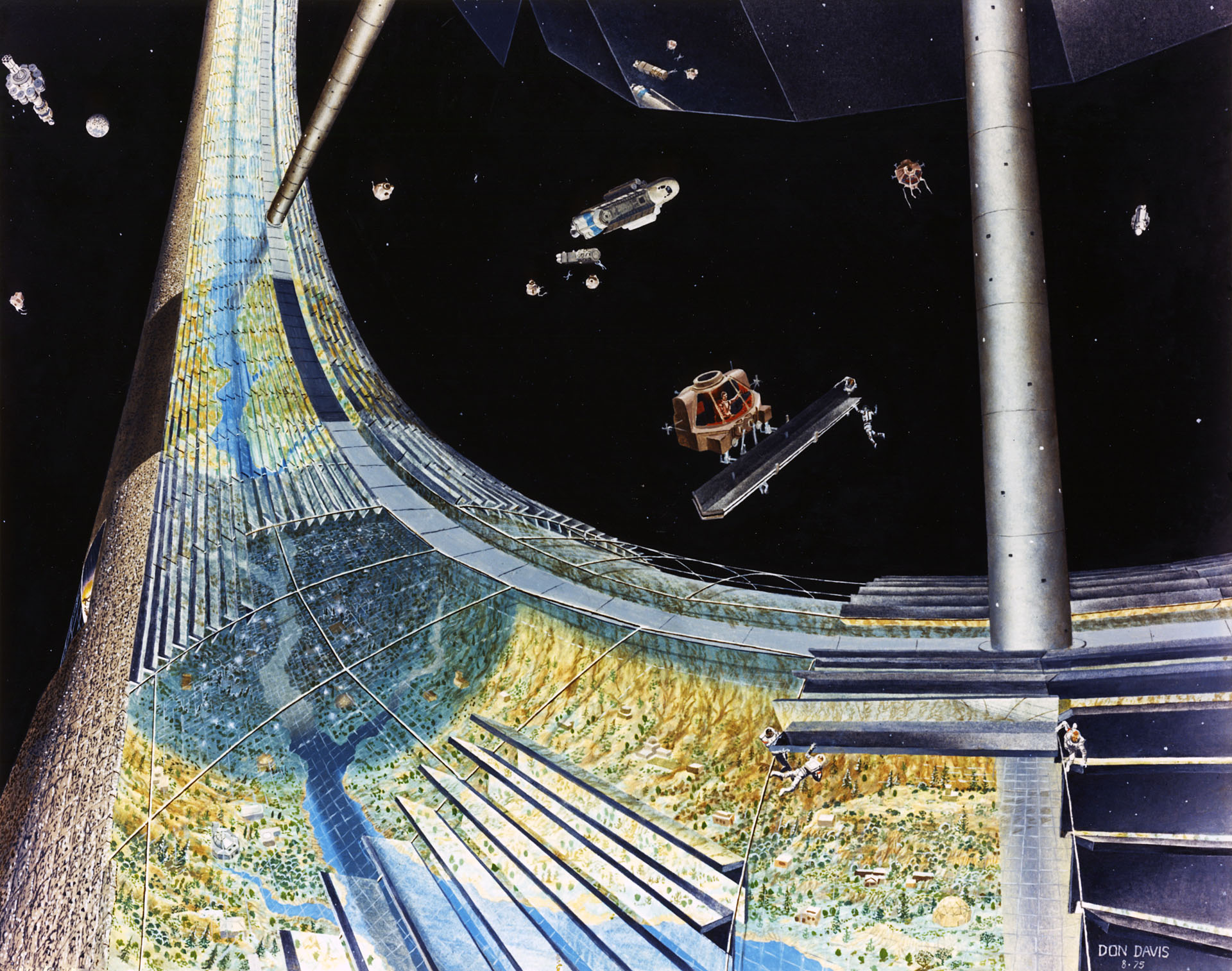 Space Colony Concepts: NASA's 1970s Vision for Giant Space Stations (Gallery)