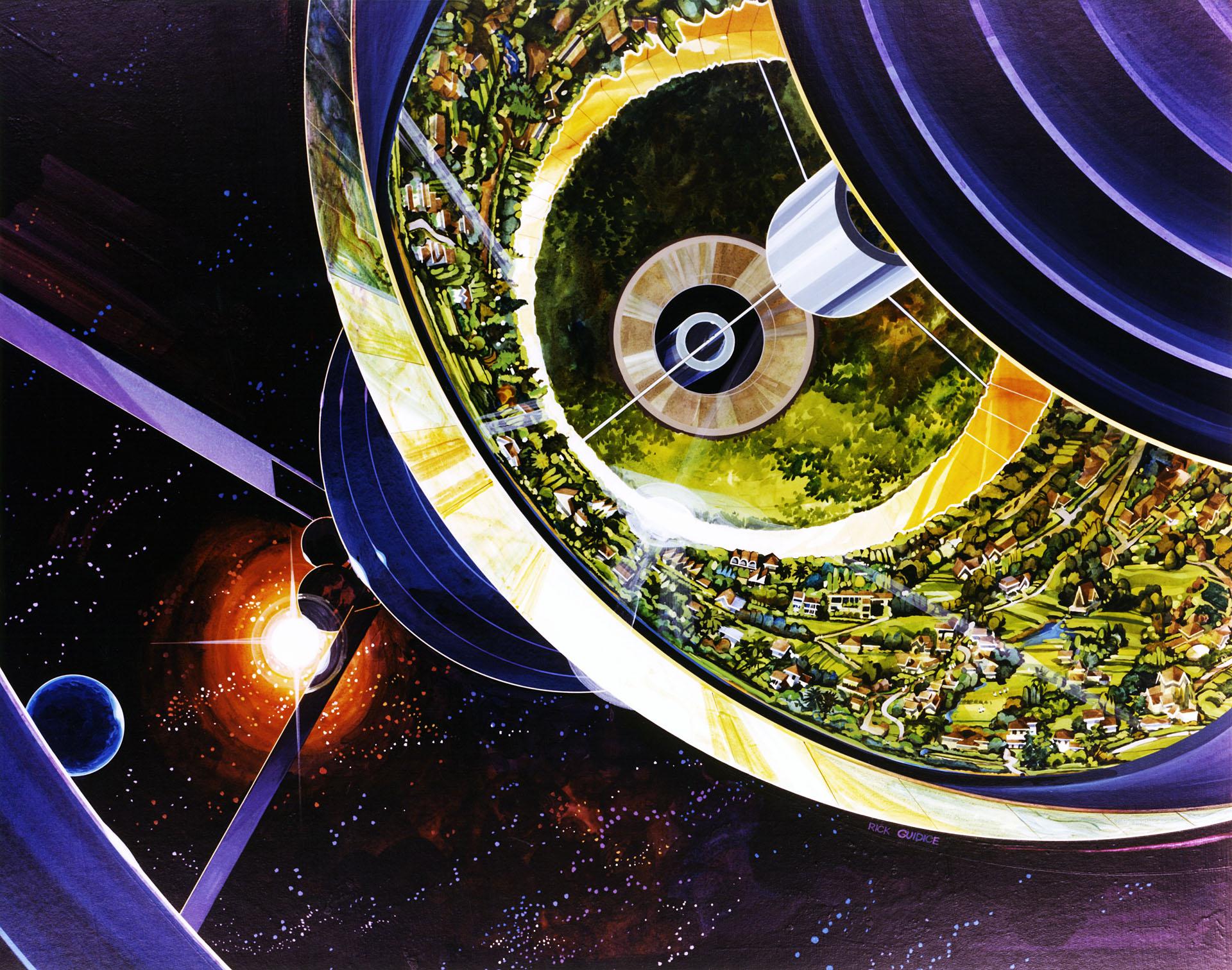 Bernal Spheres Cutaway View