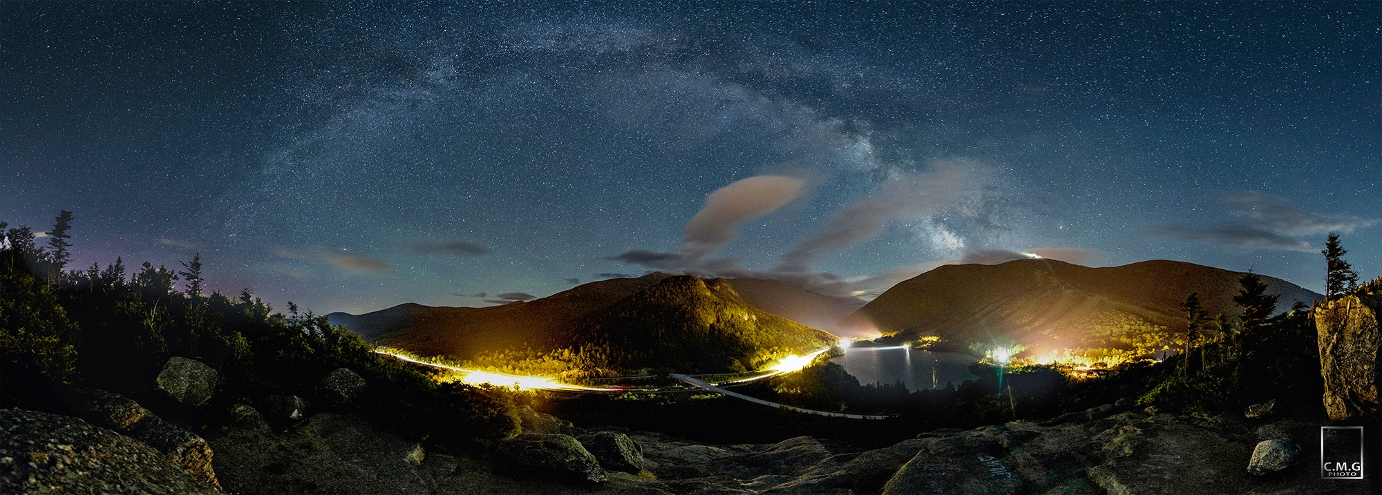Magnificent Panorama Captures Milky Way Glowing Over White Mountains