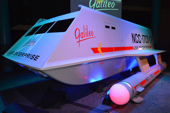 "The newly-unveiled ""Star Trek"" Galileo shuttlecraft prop as seen on display at Space Center Houston in Texas, July 31, 2013."