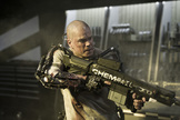 "Matt Damon stars in Columbia Pictures' ""Elysium,"" opening August 9, 2013."