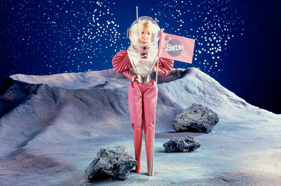 "Mattel promotional image for its 1985 ""Astronaut Barbie."" <a href=""http://www.space.com/22247-mars-barbie-doll-nasa-mattel.html"">Read the Full Story</a>"