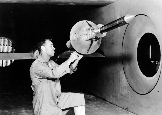 Space History Photo: Apollo Launch Escape System in Wind Tunnel